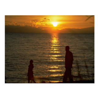 Beautiful Sunset: Lake Malawi, Malawi Postcard