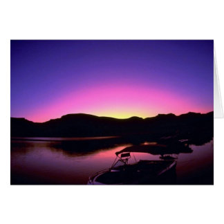 Beautiful Sunset: Lake Mead, Nevada Greeting Card
