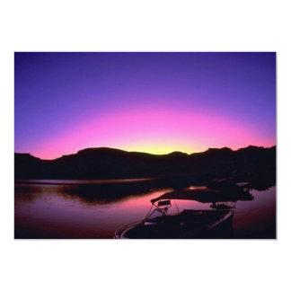 Beautiful Sunset: Lake Mead, Nevada Custom Invitation