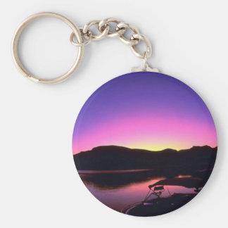 Beautiful Sunset: Lake Mead, Nevada Key Chain