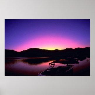 Beautiful Sunset: Lake Mead, Nevada Print