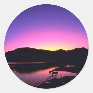 Beautiful Sunset: Lake Mead, Nevada Stickers