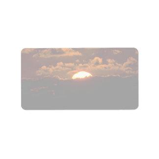 Beautiful Sunset: Maui, Hawaii Address Label