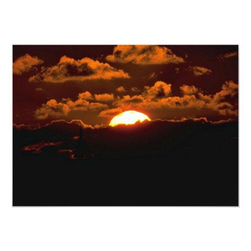Beautiful Sunset: Maui, Hawaii 5x7 Paper Invitation Card