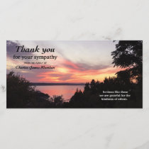 Beautiful Sunset Memorial Sympathy Thank You Photo