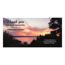 Beautiful Sunset Memorial Sympathy Thank You Photo Card