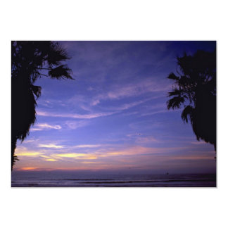 Beautiful Sunset: Mission Beach, California 5x7 Paper Invitation Card