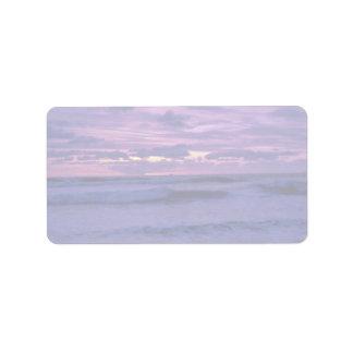 Beautiful Sunset: Mission Beach, California Address Label