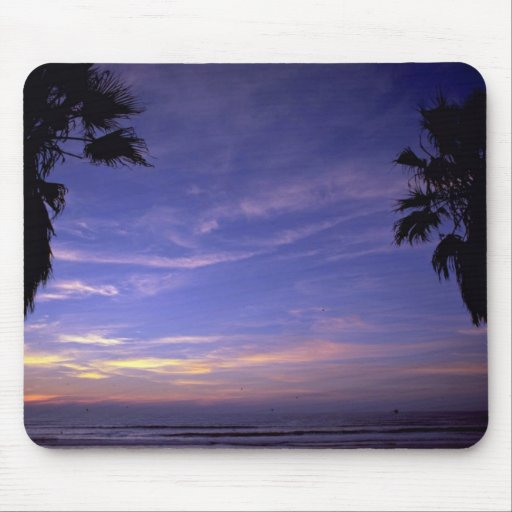 Beautiful Sunset: Mission Beach, California Mouse Pad
