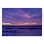 Beautiful Sunset: Mission Beach, San Diego, Califo Greeting Card