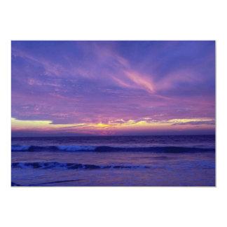 Beautiful Sunset: Mission Beach, San Diego, Califo 5x7 Paper Invitation Card