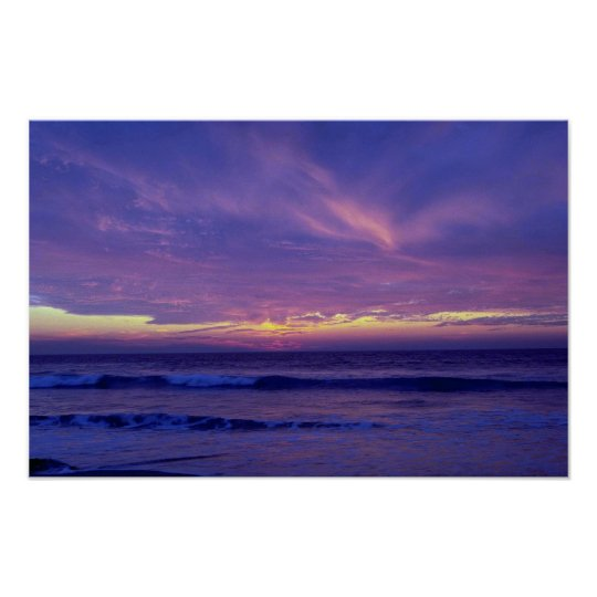 Beautiful Sunset: Mission Beach, San Diego, Califo Poster