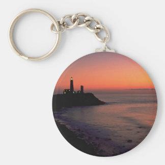 Beautiful Sunset Montauk Point Light House Long Key Chains