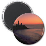 Beautiful Sunset: Montauk Point Light House, Long Refrigerator Magnets