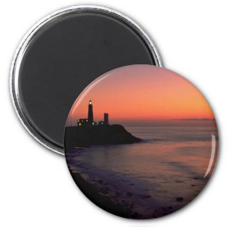 Beautiful Sunset: Montauk Point Light House, Long Magnet