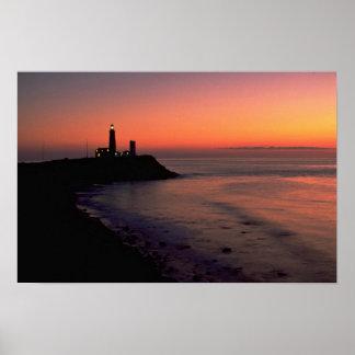 Beautiful Sunset: Montauk Point Light House, Long Poster