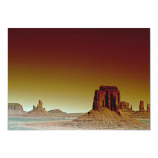 Beautiful Sunset: Monument Valley, America's South 5x7 Paper Invitation Card