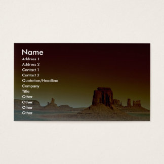 Beautiful Sunset: Monument Valley, America's South Business Card