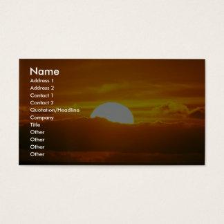 Beautiful Sunset: Moorea, outer reef pass, Tahiti Business Card