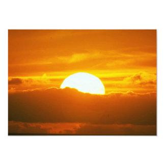Beautiful Sunset: Moorea, outer reef pass, Tahiti Card