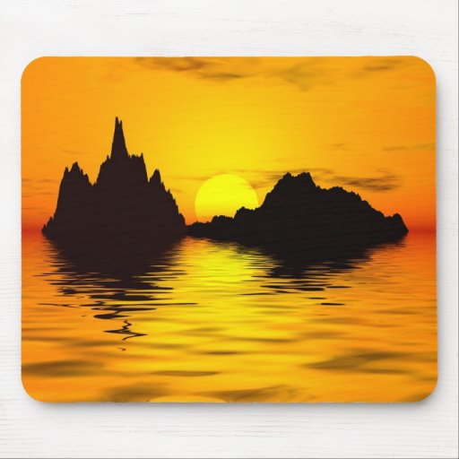 Beautiful sunset mouse pad