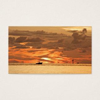 Beautiful Sunset Naples Florida Business Card