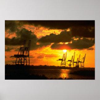 Beautiful Sunset: Norfolk, Virginia Poster