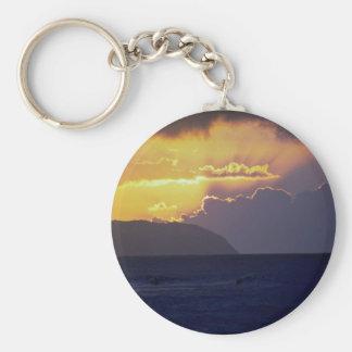 Beautiful Sunset: North Shore, Oahu, Hawaii Key Chains