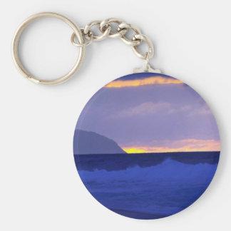 Beautiful Sunset: North Shore, Oahu, Hawaii Keychains