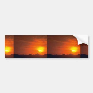 Beautiful Sunset: Northern Desert, Pakistan Car Bumper Sticker