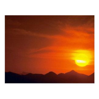 Beautiful Sunset: Northern Desert, Pakistan Postcard
