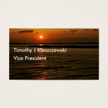 Beach Themed Beautiful Sunset on a Beach Business Card