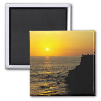 beautiful sunset on Bali island 2 Inch Square Magnet