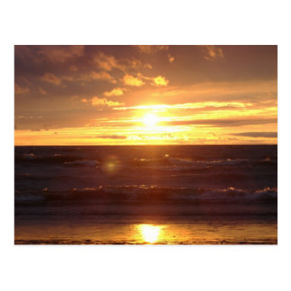 Beautiful Sunset On Lake Erie Postcard