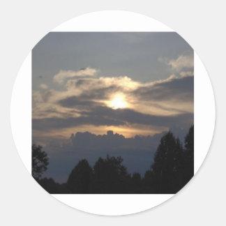 Beautiful sunset on the Blue Ridge Parkway! Round Stickers
