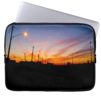 Beautiful Sunset on the road! Laptop Computer Sleeve