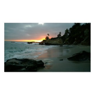 Beautiful Sunset on the Shore Cliffs Business Card