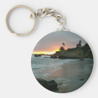 Beautiful Sunset on the Shore Cliffs Keychain