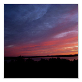 Beautiful Sunset Over Frenchman's Bay Poster