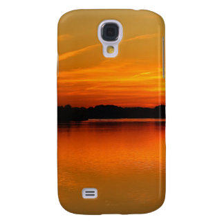 Beautiful Sunset Over Lake Water Landscape Galaxy S4 Covers