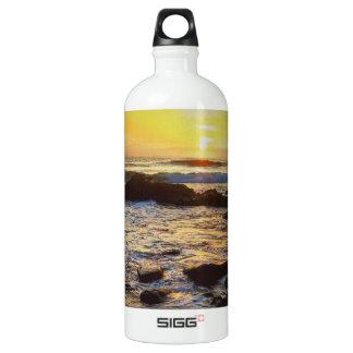 Beautiful Sunset Over the Sea Aluminum Water Bottle