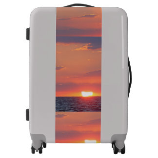 Beautiful Sunset Over the Water Sunset Beach Luggage