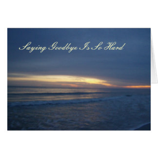 Beautiful Sunset over Water Card