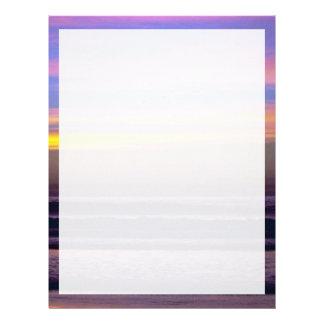 Beautiful Sunset: Pacific Beach, California Letterhead
