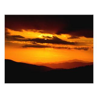 Beautiful sunset photo flyer