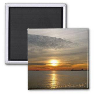 Beautiful sunset photography magnet