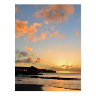Beautiful sunset postcard