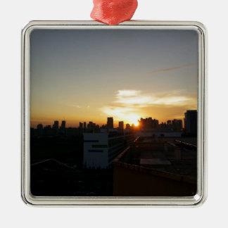 Beautiful Sunset Premium Christmas Ornament