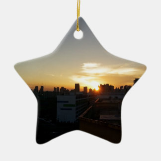 Beautiful Sunset Premium Christmas Tree Ornament