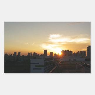 Beautiful Sunset Premium Rectangular Sticker